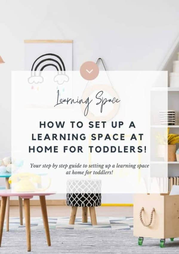 How To set up a learning space at home for toddlers!